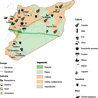 Syria Economic map