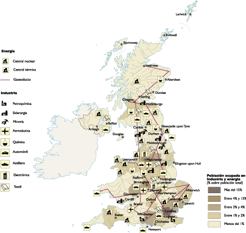 United Kingdom Economic map