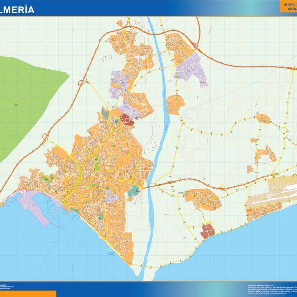 Almeria Mapa Vinilo