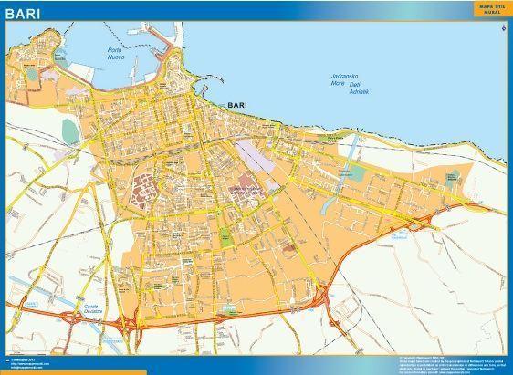 Bari Wall Map
