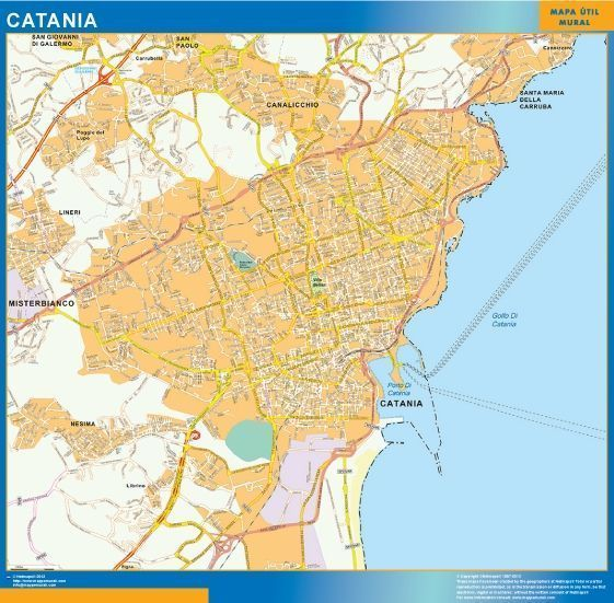 Catania Wall Map