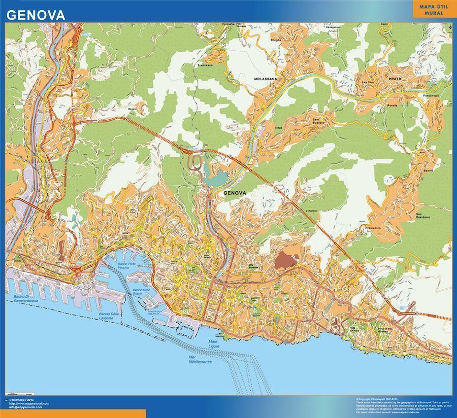Genova Wall Map