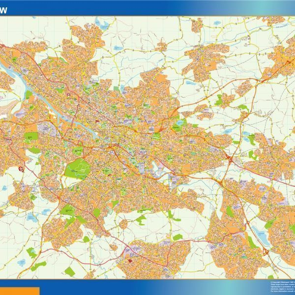 Glasgow Vinyl Map
