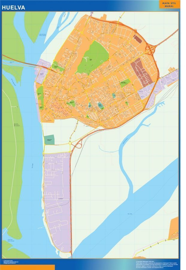 Huelva Mapa Vinilo