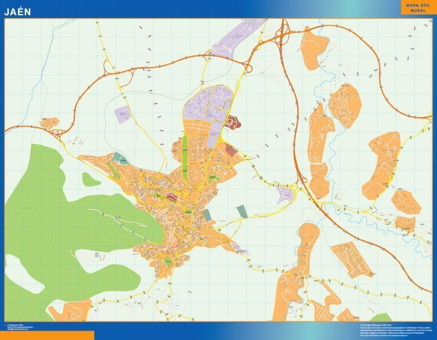 Jaen Mapa Vinilo