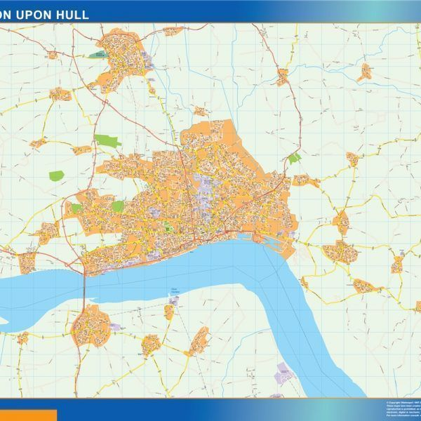 Kingston Upon Hull Vinyl Map