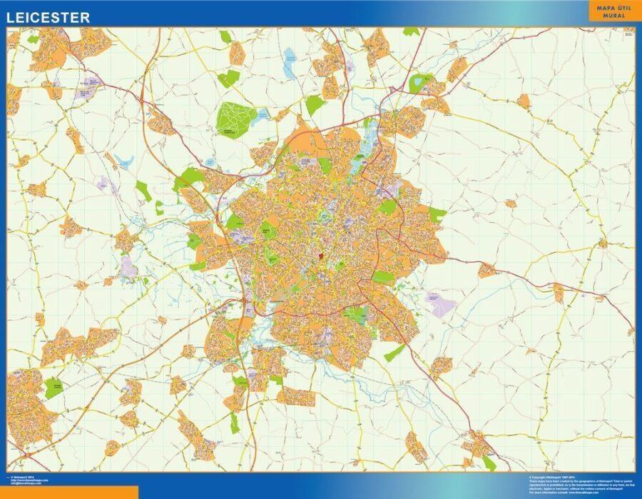Leicester Vinyl Map