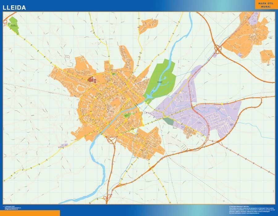 Lleida Mapa Vinilo