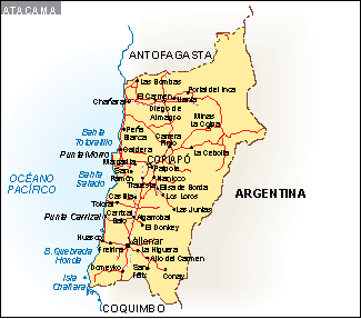 Mapa Atacama