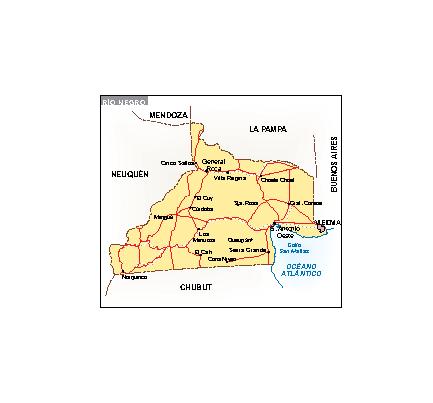 Mapa Río Negro