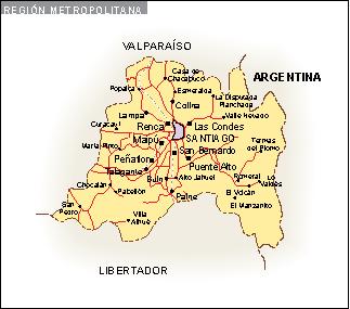Mapa Region Metropolitana