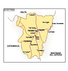 Mapa Tucuman