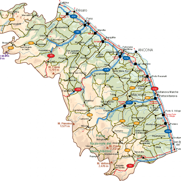 Marche Vector Map