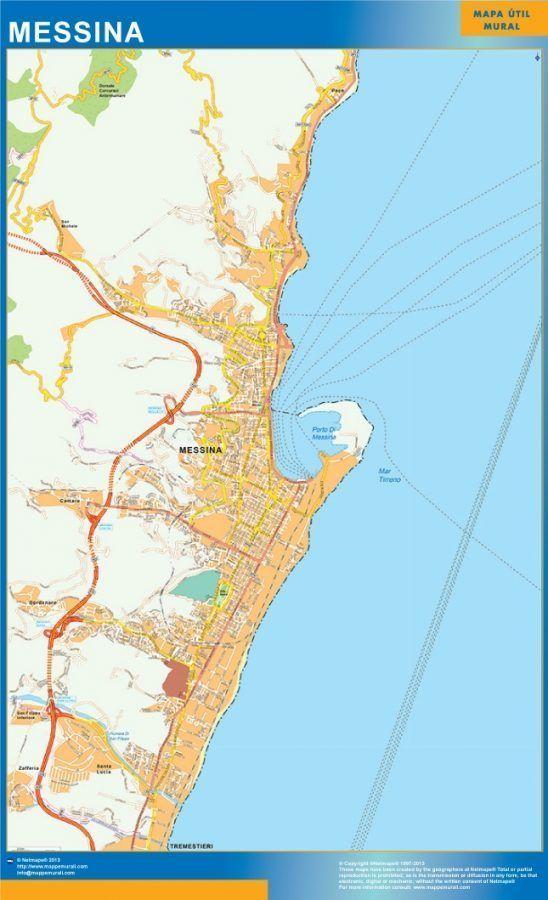 Messina Wall Map