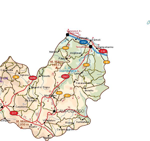 Molise Vector Map