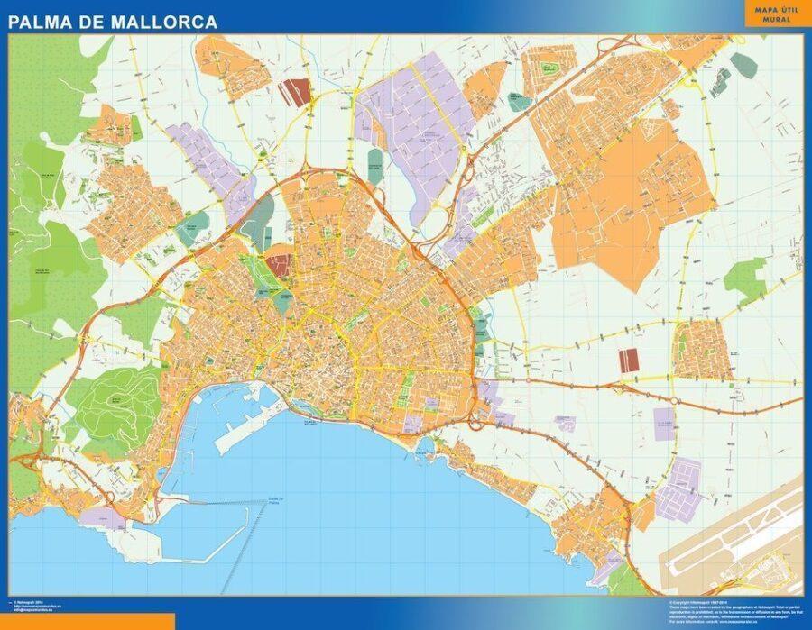 Palma Mallorca Mapa Vinilo