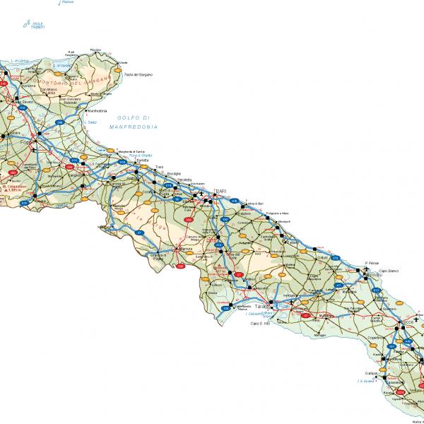 Puglia Vector Map