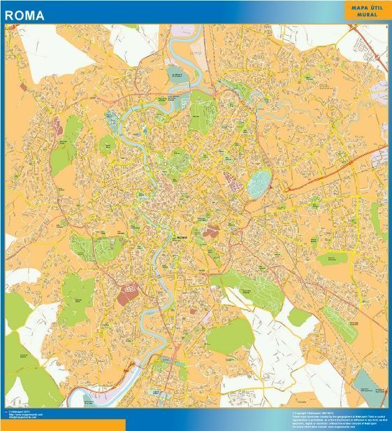 Roma Wall Map