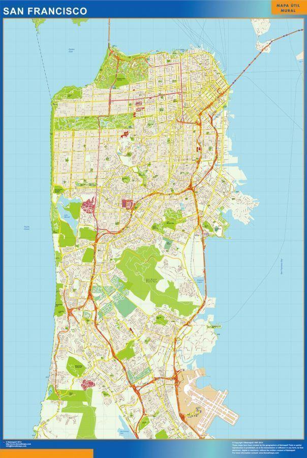 San Francisco Vinyl Map