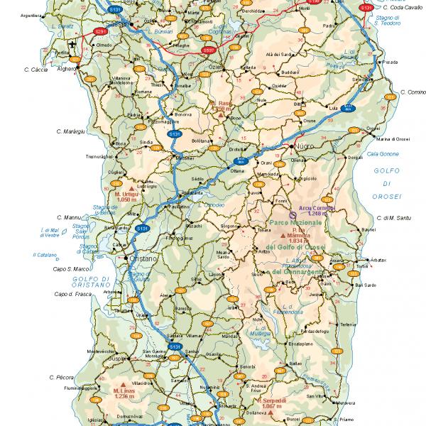 Sardegna Vector Map