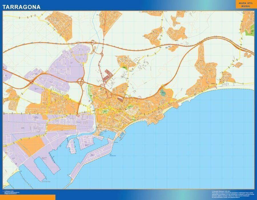 Tarragona Mapa Vinilo