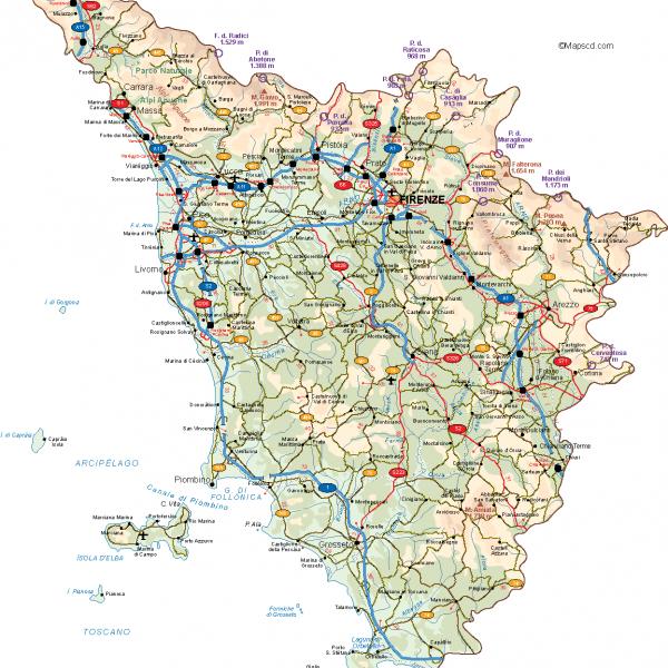 Toscana Vector Map
