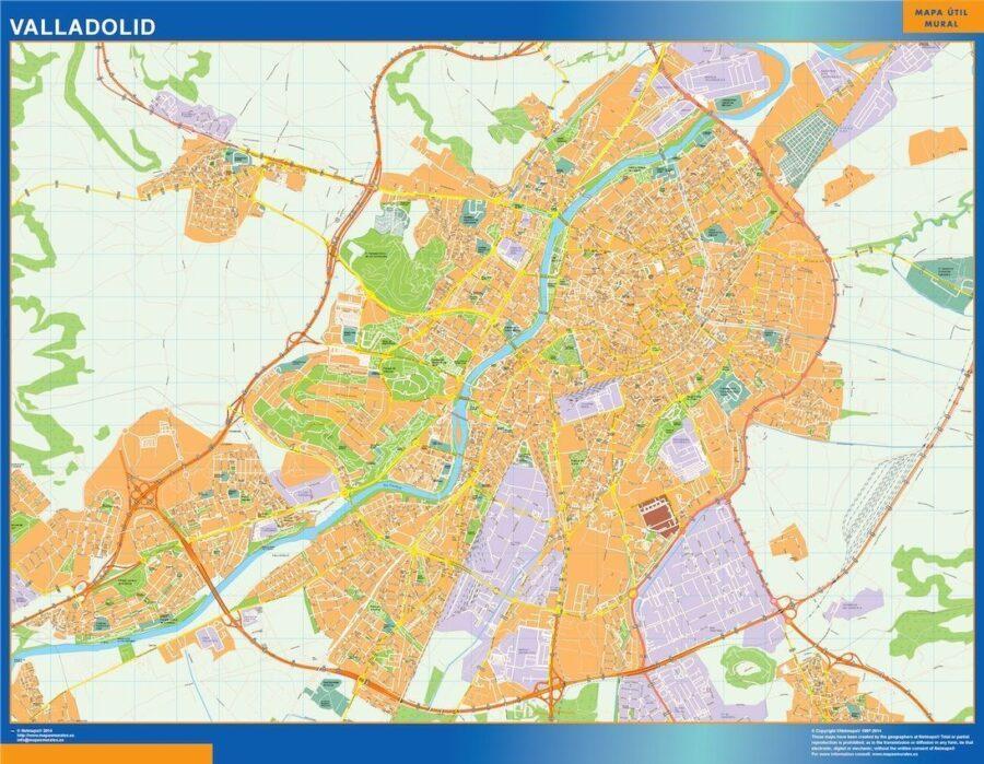 Valladolid Mapa Vinilo