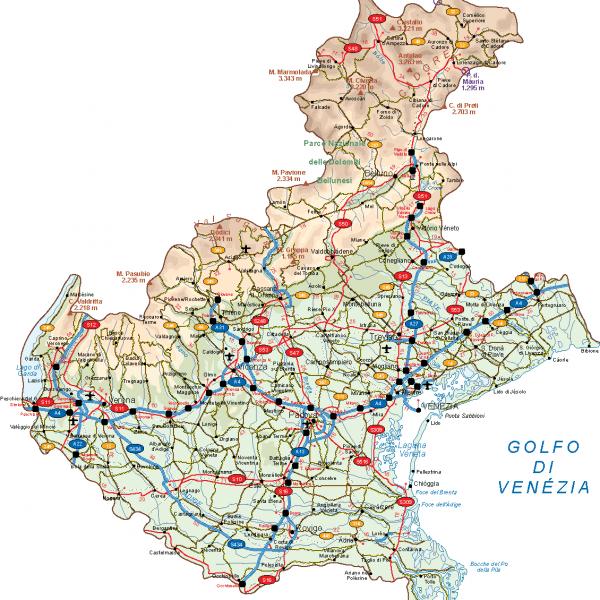 Veneto Vector Map