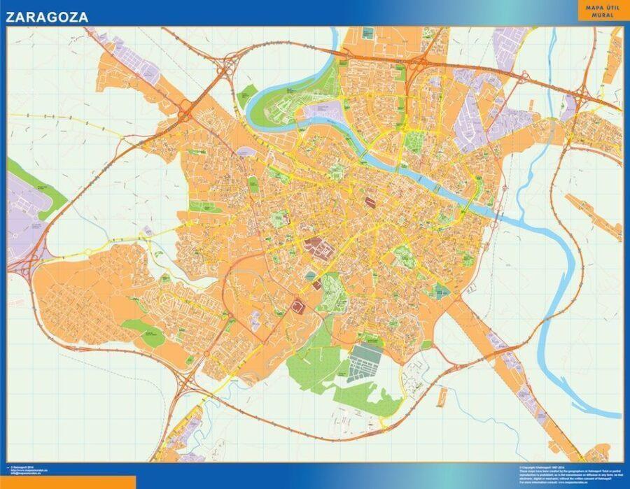 Zaragoza Mapa Vinilo