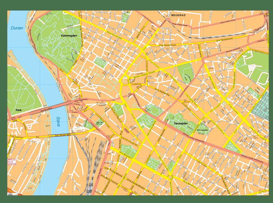 Beograd Vector EPS Map
