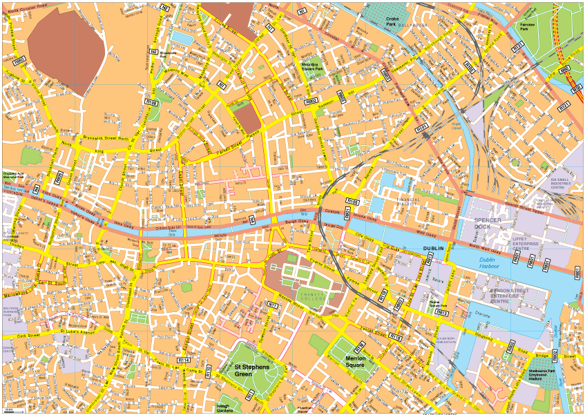 Maps Dublin.Dublin Vector Eps Map