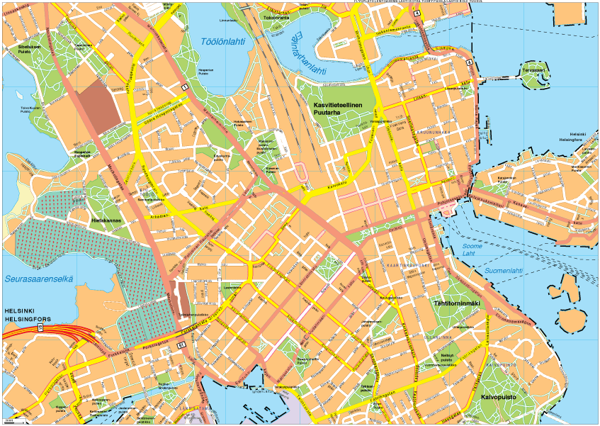 Helsinki Vector EPS Map