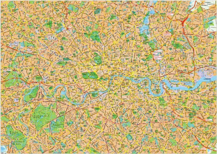 London Vector EPS Area
