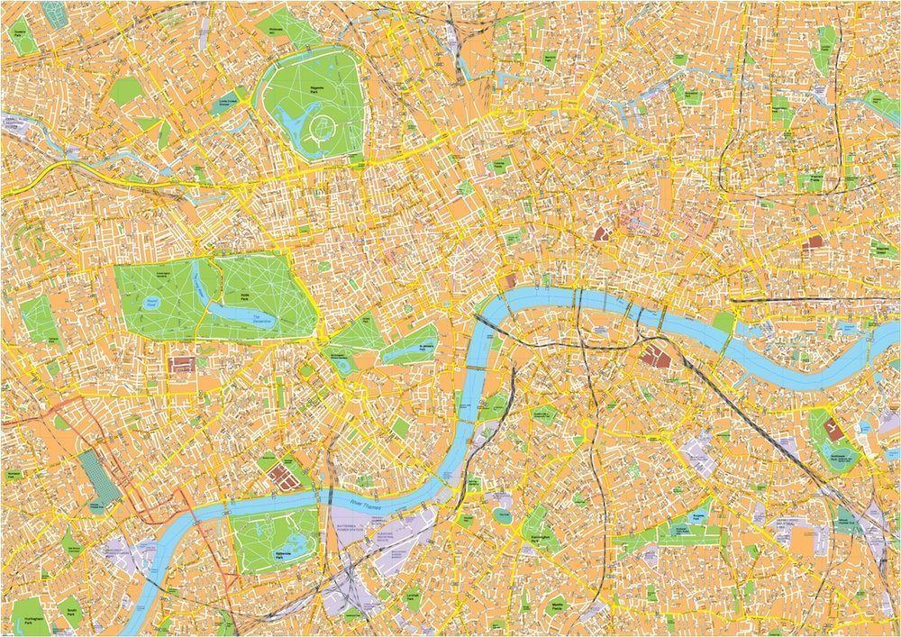 Street Map Of London Uk.London Vector Streetmap