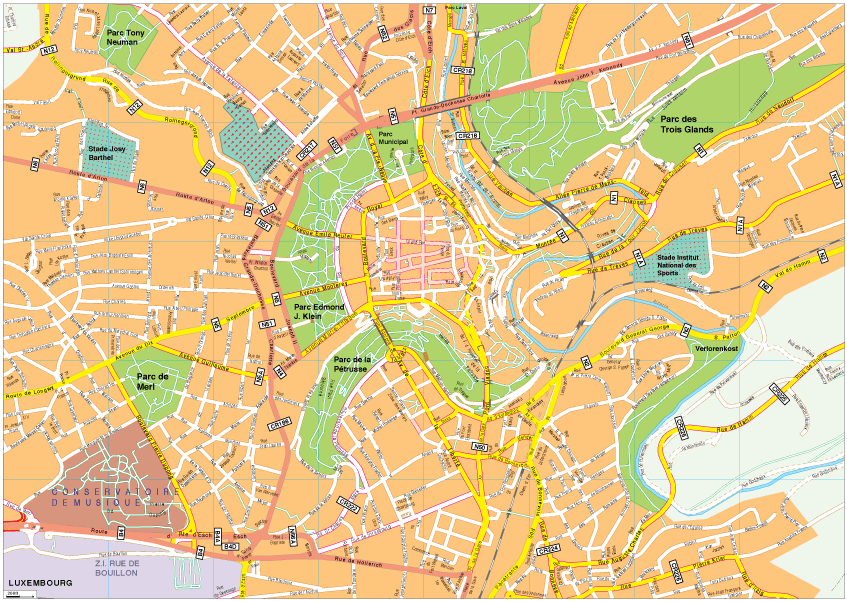 Luxembourg Vector EPS Map