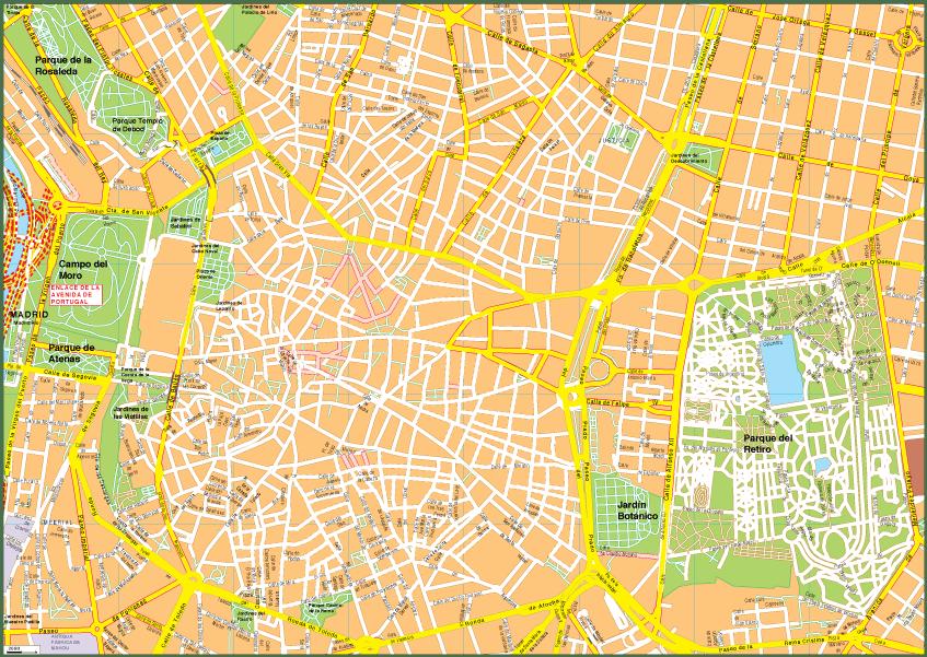 Madrid Vector EPS Map