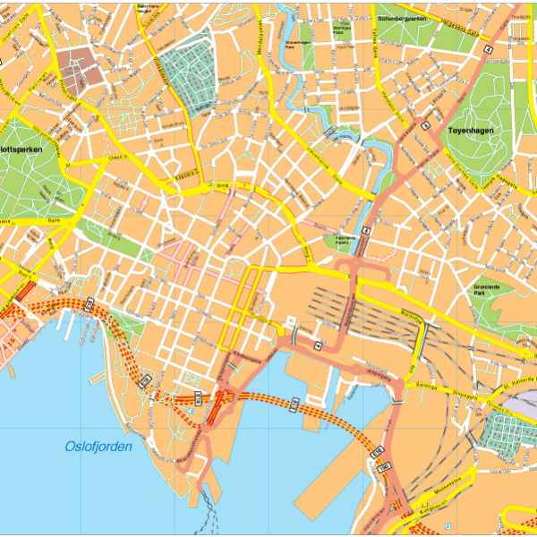 Oslo Vector EPS Map