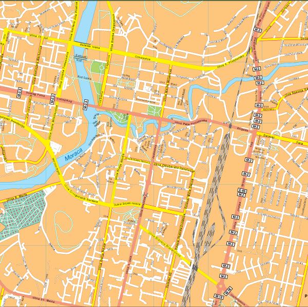 Pogdorica Vector EPS Map