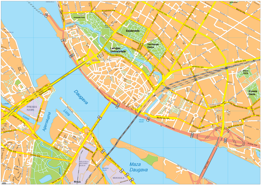 Riga Vector EPS Map
