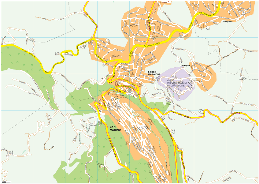 San Marino Vector EPS Map