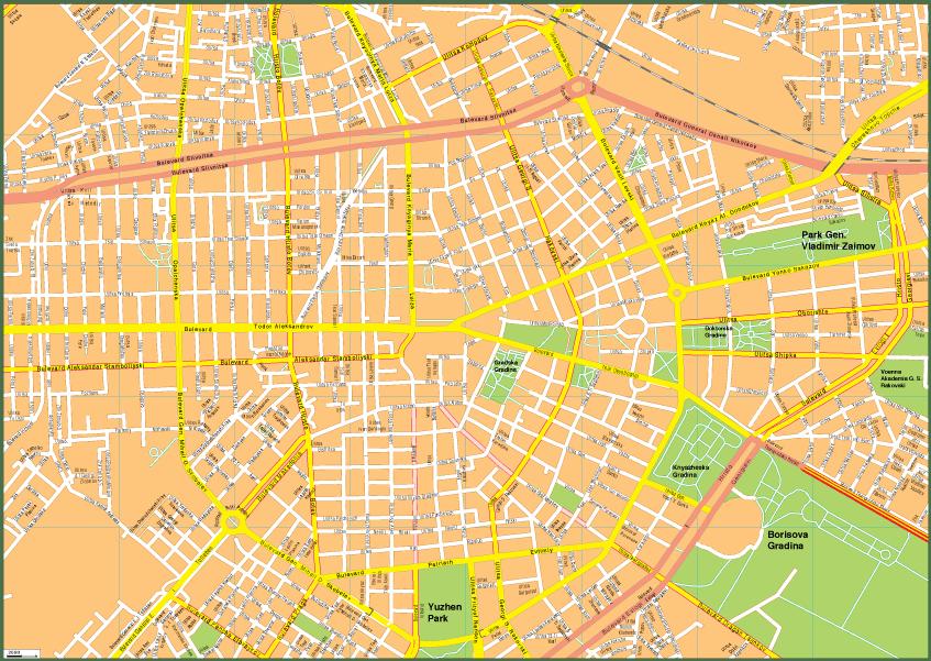 Sofia Vector EPS Map