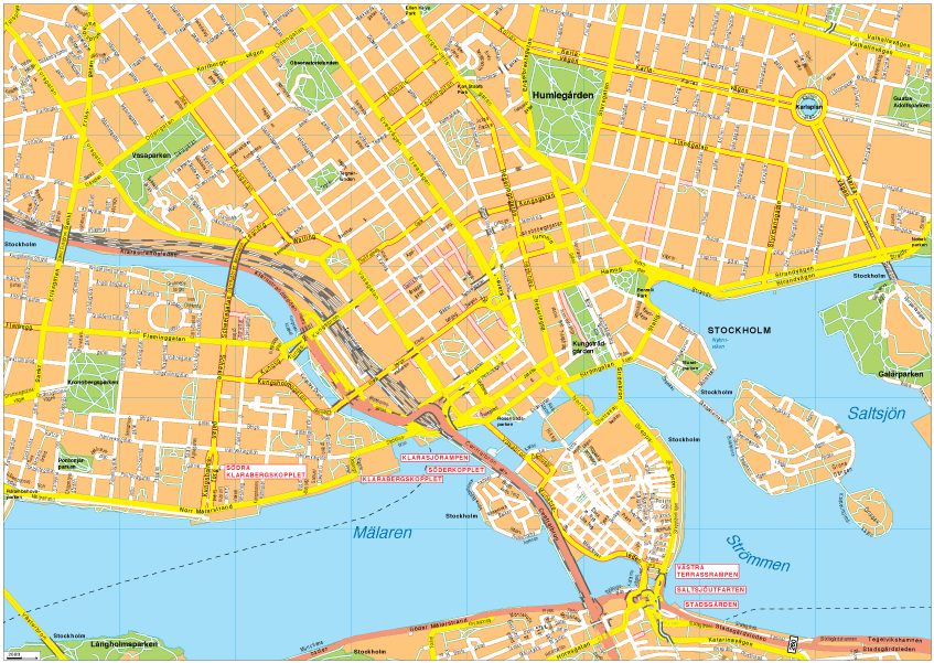 Stockholm Vector EPS Map