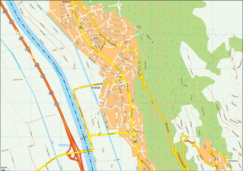 Vaduz Vector EPS Map