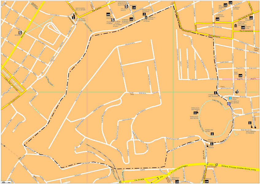 Vatican Vector EPS Map