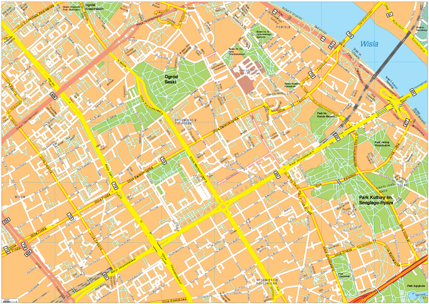 Warsaw Vector EPS Map