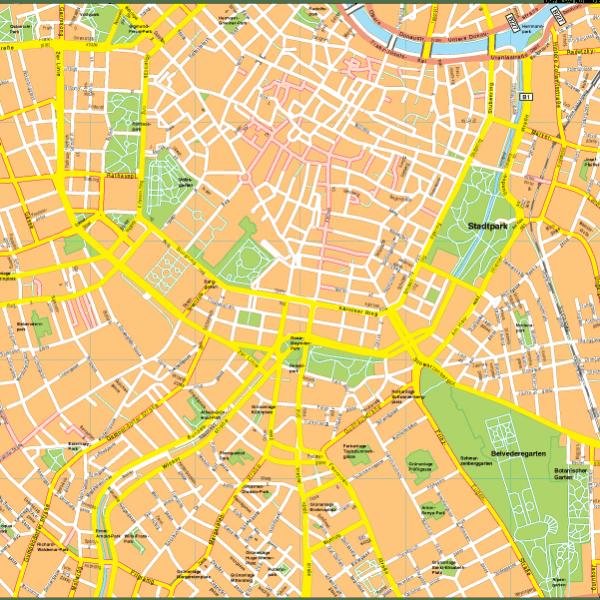 Wien Vector EPS Map